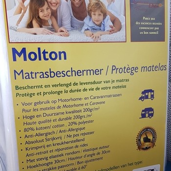 Molton matrasbeschermer Stretch
